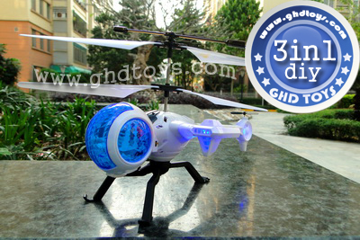 DIY model remote control helicopter with gyro